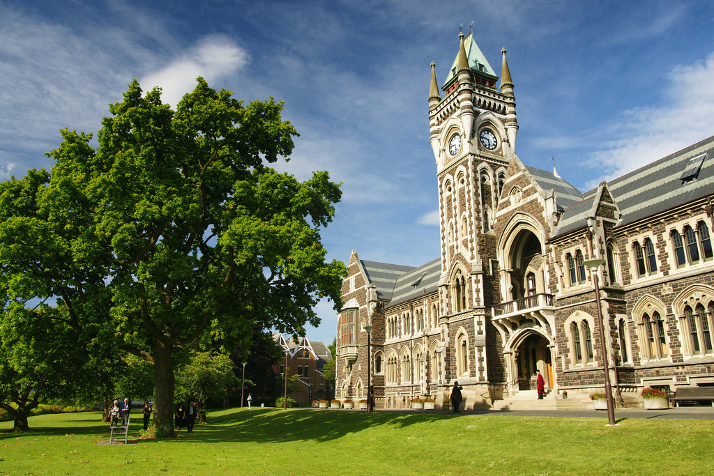 Studying at University of Otago in New Zealand