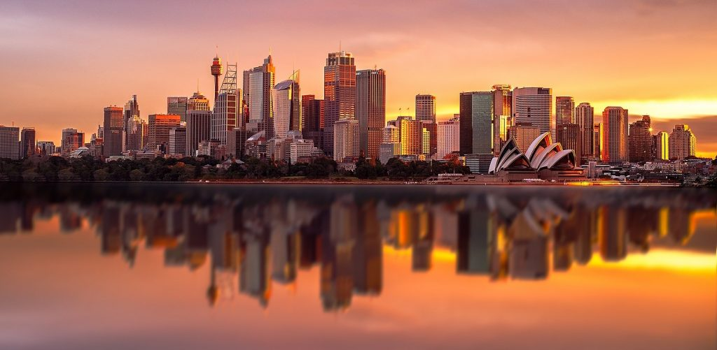 Sydney CBD at Sunset