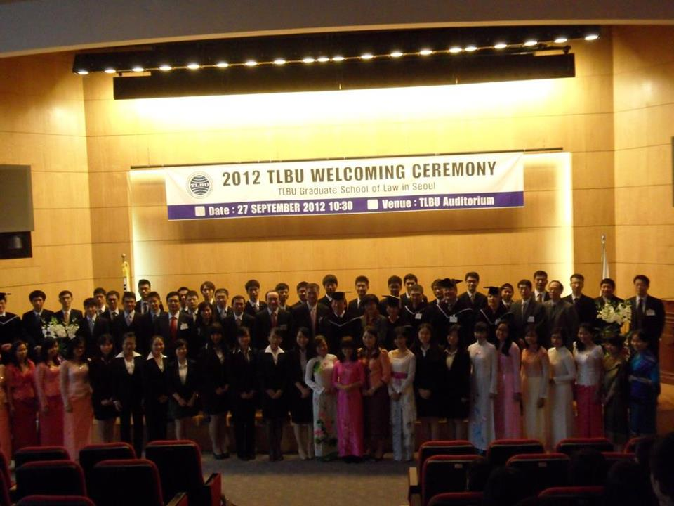 2012 TLBU Welcoming Ceremony
