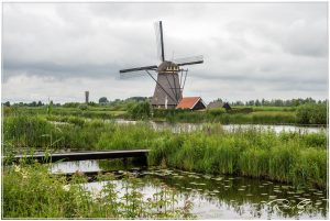 Kinderdijk windmills area near Rotterdam.