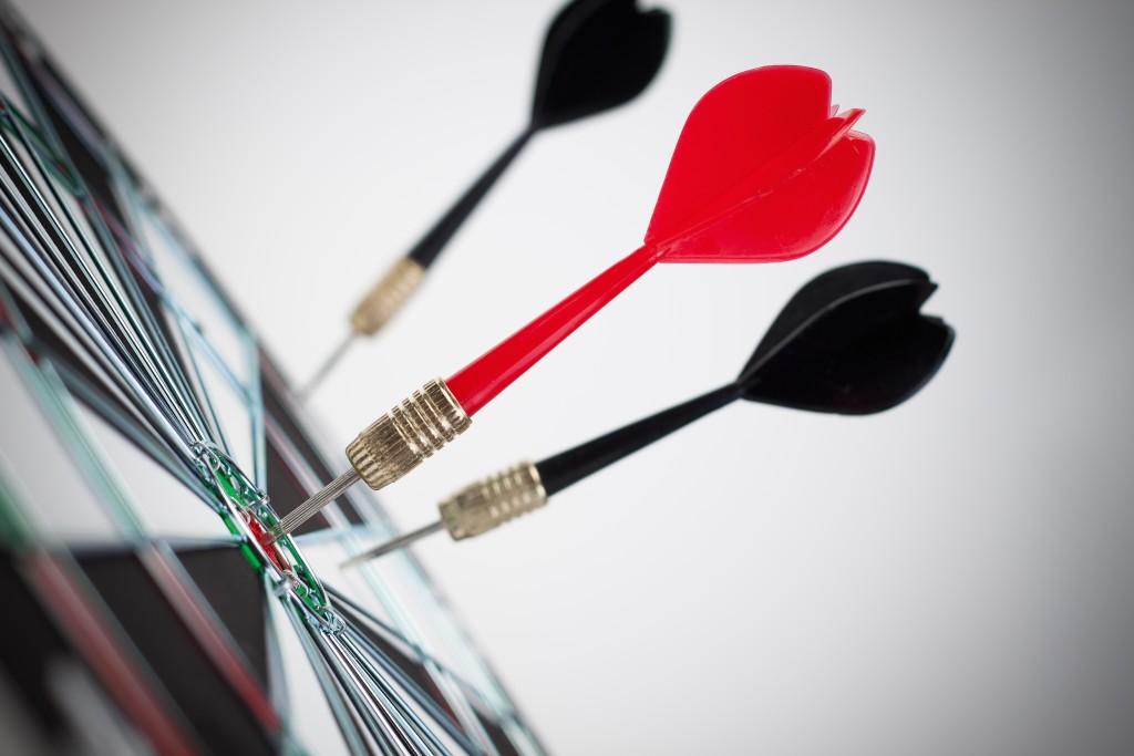 dart hit the dead centre of target
