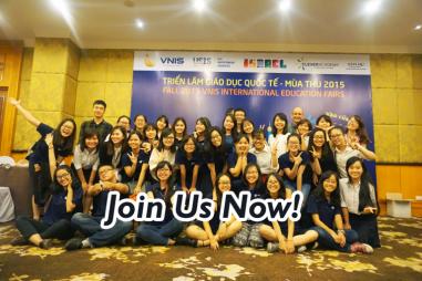 Tuyển dụng: Tình nguyện viên – Triển lãm Giáo dục Quốc tế VNIS – Thu 2016