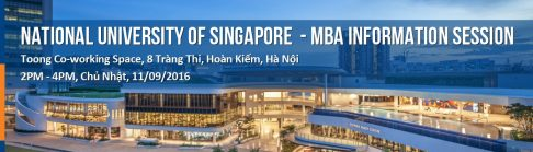 Hội thảo thông tin Thạc sĩ Quản trị Kinh doanh, đại học quốc gia Singapore