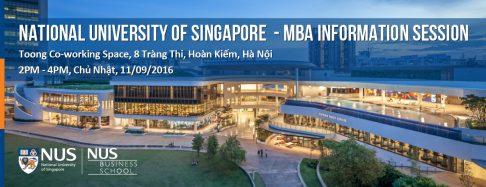 [Tp.HCM] Hội thảo thông tin Thạc sĩ Quản trị Kinh doanh, đại học quốc gia Singapore