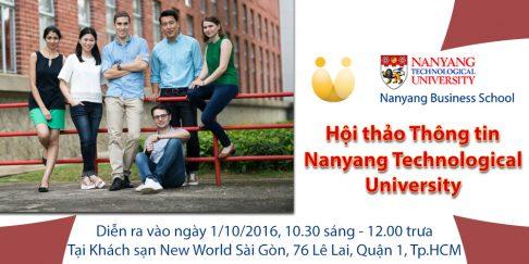 [Hội thảo thông tin] Du học Thạc sỹ tại Singapore với Nanyang Technological University (NTU)