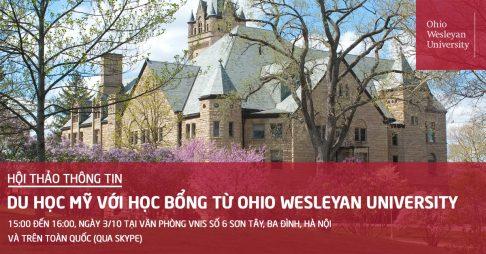 [Hội thảo thông tin] Du học Mỹ và nhận Học bổng từ Ohio Wesleyan University