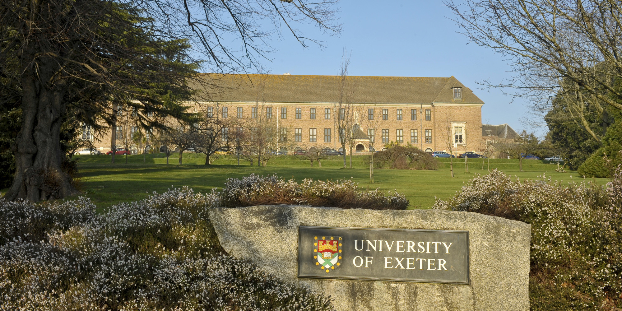 A general view of Exeter University, Exeter, Devon.