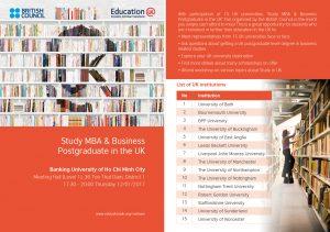 [HCM] Ngày hội Thông tin Học MBA và Thạc sỹ các chuyên ngành Kinh tế tại Vương quốc Anh @ Hội trường, Tầng 2, Đại học Ngân hàng
