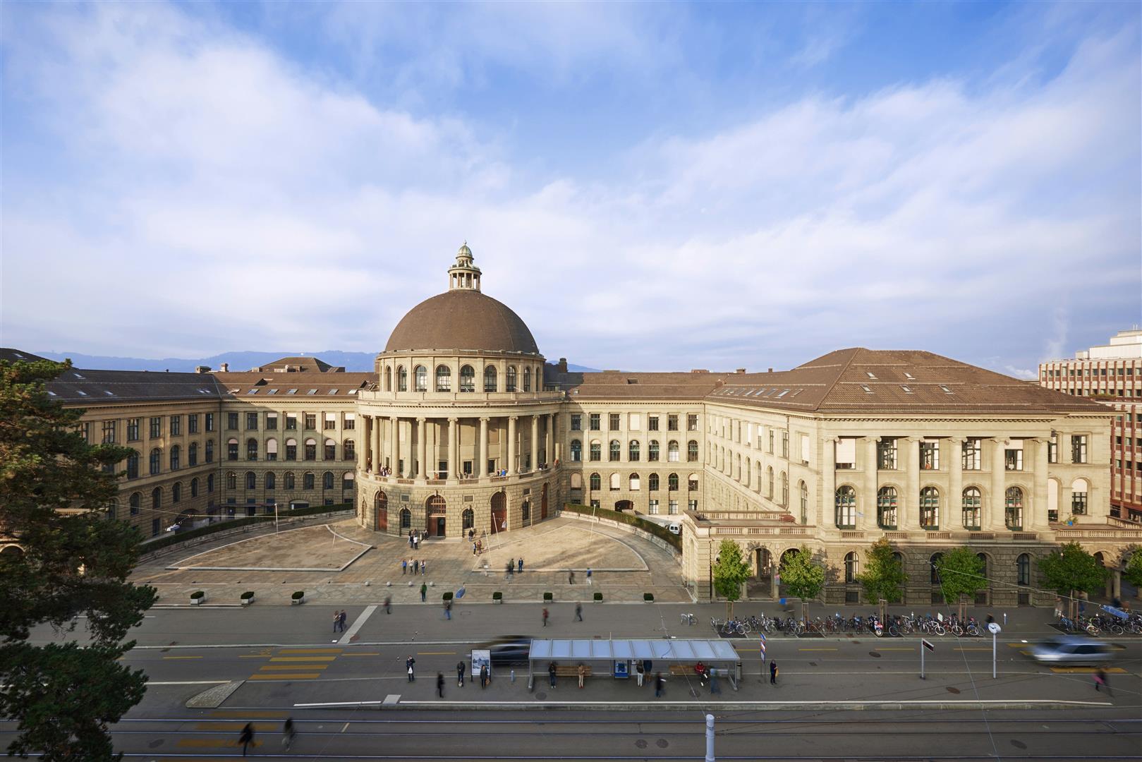 ETH Zürich, Zentrum, Hauptgebäude HG, Haupteingang, Rämistrasse