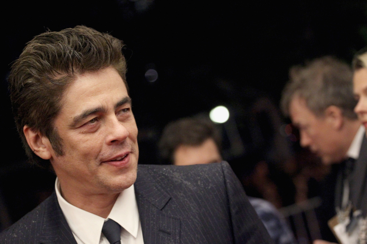 "TORONTO, ON - SEPTEMBER 11: Actor Benicio Del Toro attends the ""Sicario"" premiere during the 2015 Toronto International Film Festival at Princess of Wales Theatre on September 11, 2015 in Toronto, Canada. (Photo by Tommaso Boddi/Getty Images)"