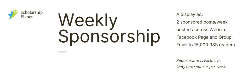 Weekly Sponsor